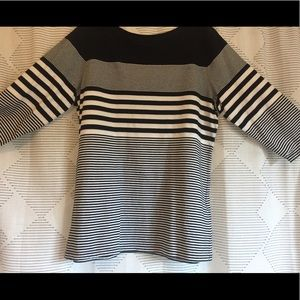 Coldwater Creek Striped 3/4 sleeve Tee
